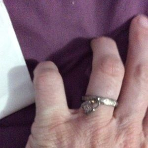 Tiffany and co lock charm ring